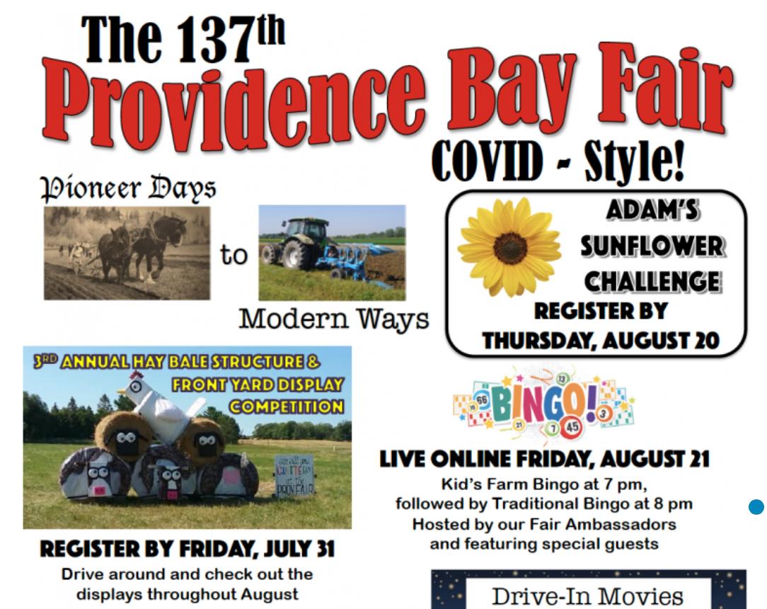 Providence Bay Fair- COVID Style!